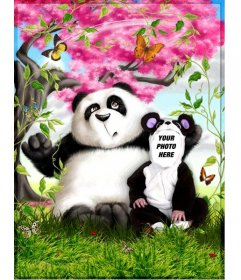 Panda costume. Photo montage to put your photo on a panda.