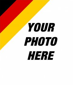 Put the flag of Germany in the corner of your pictures