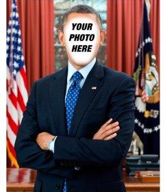 Photomontage to put your photo in U.S. President Barack Obama