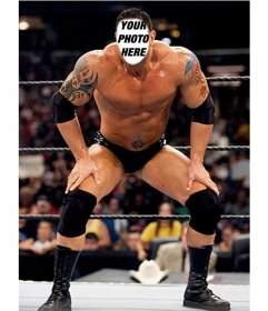 Photomontage with popular wrestler Batista to put your face