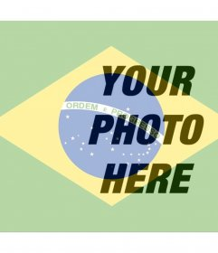 Collage to put the Brazilian flag next to your photo online