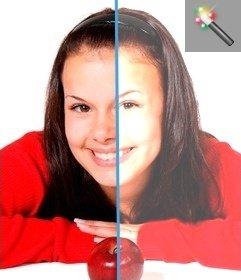 Filter to lighten dark photos online and free