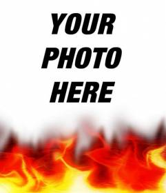 Burning photo photo effect. Ideal for your profile picture.