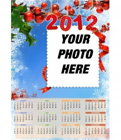Calendar to put your picture in 2012 in English