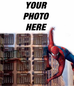 Spiderman in your Calendar 2016 in English to edit