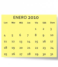 January 2010 customizable calendar with your photo (in