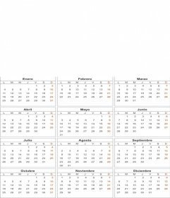 White 2010 calendar, customizable photo (In Spanish)