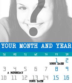 Create customized 2018 year calendar of months