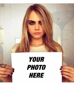 Photomontage with Cara Delevingne
