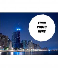 Postcard with a picture of Chicago
