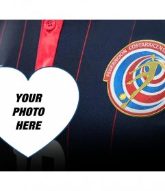 Montage to put your picture next to the shirt and logo of the football team of Costa Rica