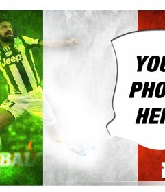 Create this photomontage with Andrea Pirlo player of the Italian national team