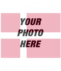 Photomontage in which you can put your photo along with the flag of Denmark