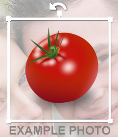Tomato Sticker to hide faces in photos