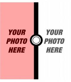 Photomontage for two photos of Pokémon