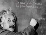 Photomontage Slate Einstein