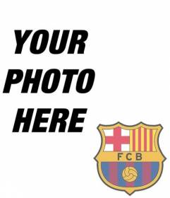 Photomontage to put the shield of FC Barcelona in your photo