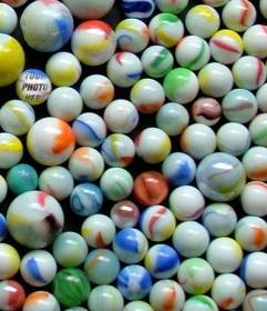 Hide your face in one of these marbles to play with your friends to find you