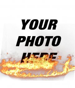 Put to your photos a flame effect, perfect to spice up your profile