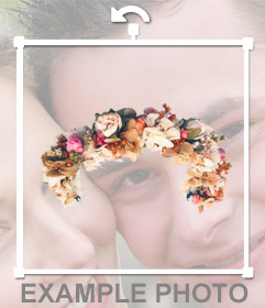Put the famous Flowers and Roses  diadem in your photos to decorate