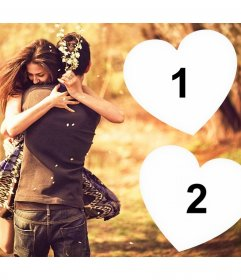 Show your love for someone with this photo effect for two photos