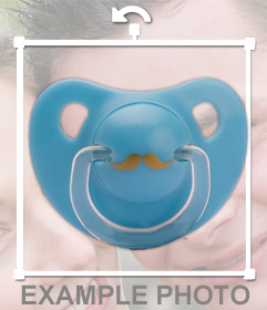 Baby pacifiers that you can put on the photos you want
