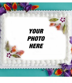 Photo effect of birthday cake perfect for your profile picture