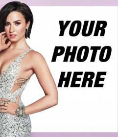 Free photo effect with the singer Demi Lovato