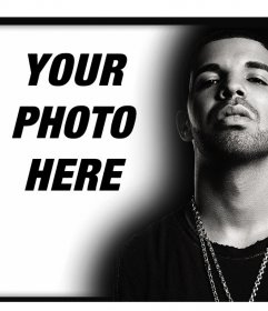 Upload your photo with Drake editing this online photo effect