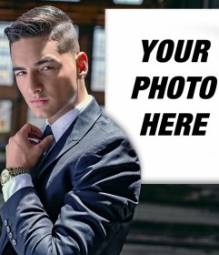 Photo effect with Maluma to put your picture beside him