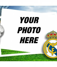 Picture frame for Real Madrid fans to edit with your photo