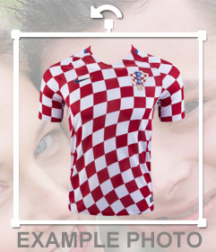 Shirt of Croatia soccer selection to paste on your photos
