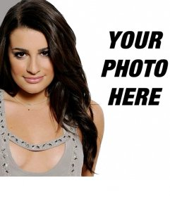 Photomontage with Lea Michelle, the Glee series actress