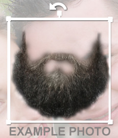 Photomontage to put a beard on the picture you want.
