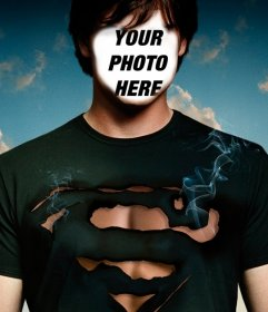 Photomontage to personify Tom Welling from Smallville as Superman