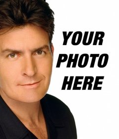 Create a montage of Charlie Sheen to appear in a photo with the actor on it