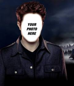 Photomontage to put your face on Robert Pattinson to do with your photo.