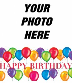 Birthday Party Frame For Editing With Your Photo For Free