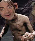 Put your face on the character of the trilogy of The Lord of the Rings, Gollum