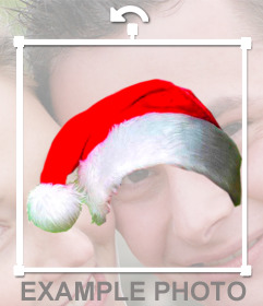 Photomontage to put a Christmas cap in your photo online without design knowledge