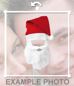 Hat and beard of Santa Claus to dress up online with your photos