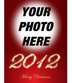 Put your photo in this montage with 2012 bright and congratulating the holidays