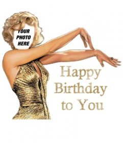 Happy Birthday card Birthday Marilyn Monroe customizable