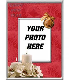 Online photo frame for photos to celebrate a Happy New Year