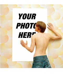 Photo effect with a boy loving your photo