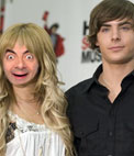 Photomontage to put your face on Ashley Tisdale with Zac Efron, both of High School