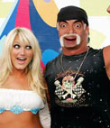 Photomontage to put your face on the body of Hulk Hogan with a blonde girl.