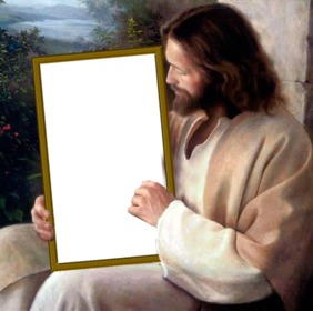 Put your picture in a picture that holds Jesus Christ