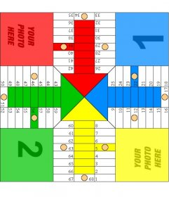 Parcheesi board to print, where you can put your own photo. To create the board, you just have to print the image, cut a piece of cardboard or thin wood and glue the leaf. A very original gift!