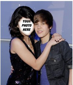 Photomontage of Justin Bieber with a girl.